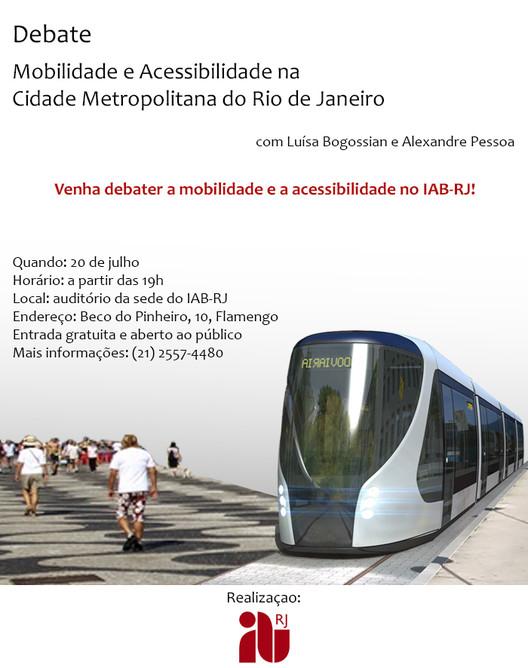 IAB-RJ promove debate sobre o transporte sobre trilhos e a padronização das calçadas no Rio de Janeiro, Cortesia de IAB-RJ