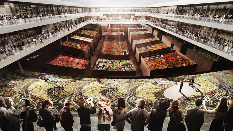 KAMJZ Proposes Sustainable Ruichang Flower Market for China, Courtesy of KAMJZ Architects