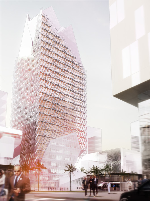 Morphosis Architects diseña nueva torre financiera en Casablanca, © Morphosis Architects