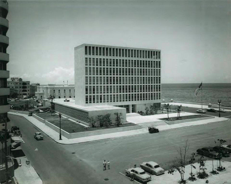 Harrison & Abramovitz's U.S. Embassy Reopens in Havana, Completed in 1953, the U.S. Embassy in Havana was a defining project of midcentury American modernism