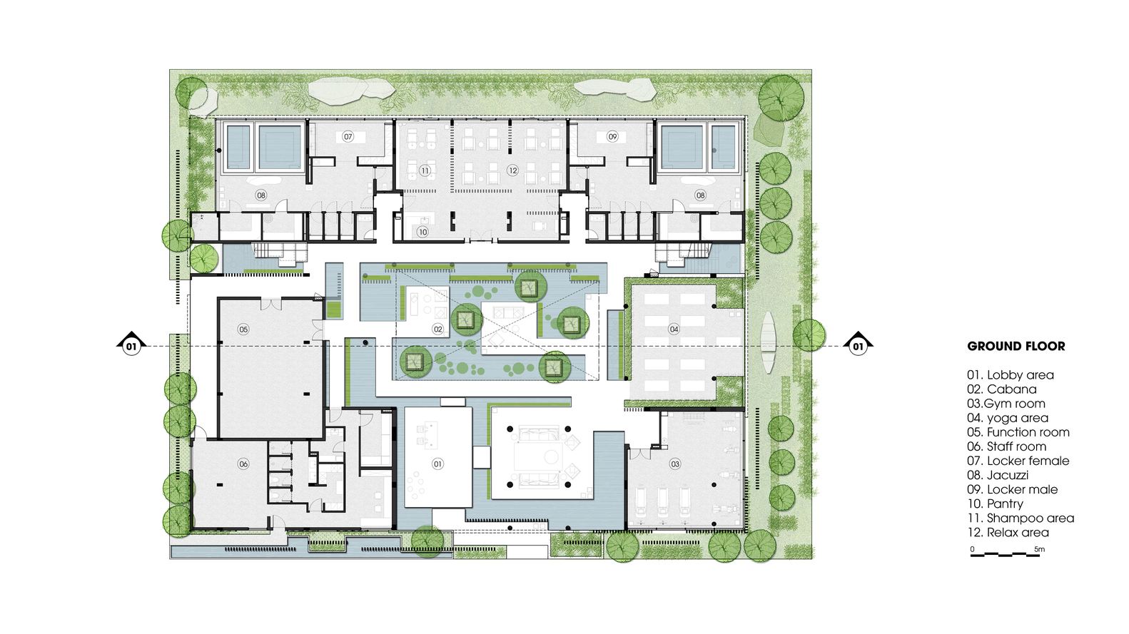 Yoga Studio Floor Plan Design