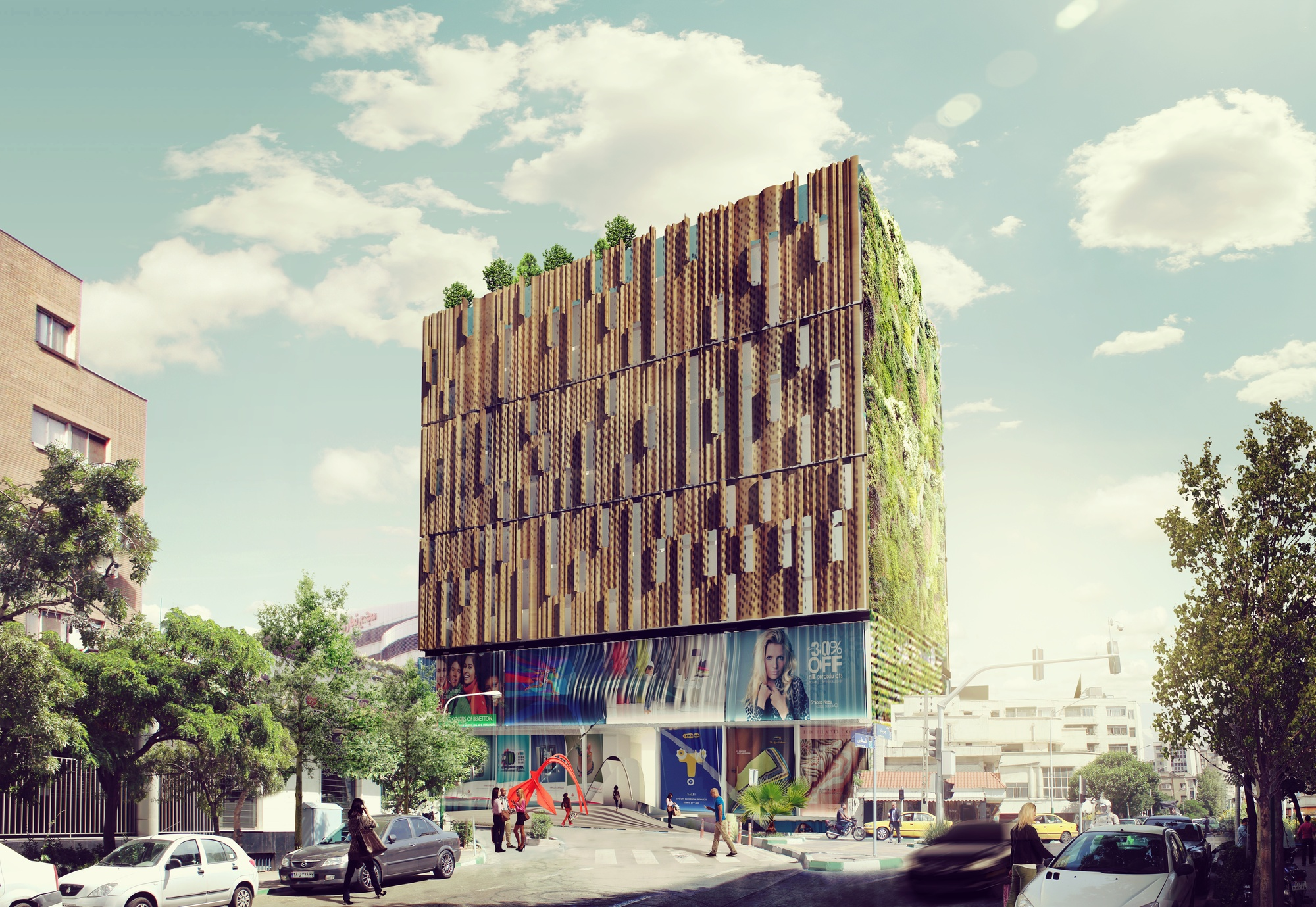 Kamvari architects design mixed use development for tehran for Construction architect