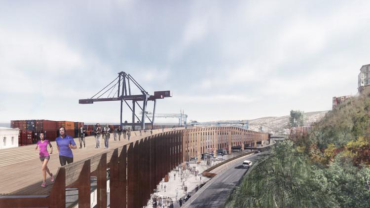 Conoce la propuesta ganadora de Mathias Klotz en el concurso público para viaducto acceso sur y muelle Prat, Cortesía de Mathias Klotz