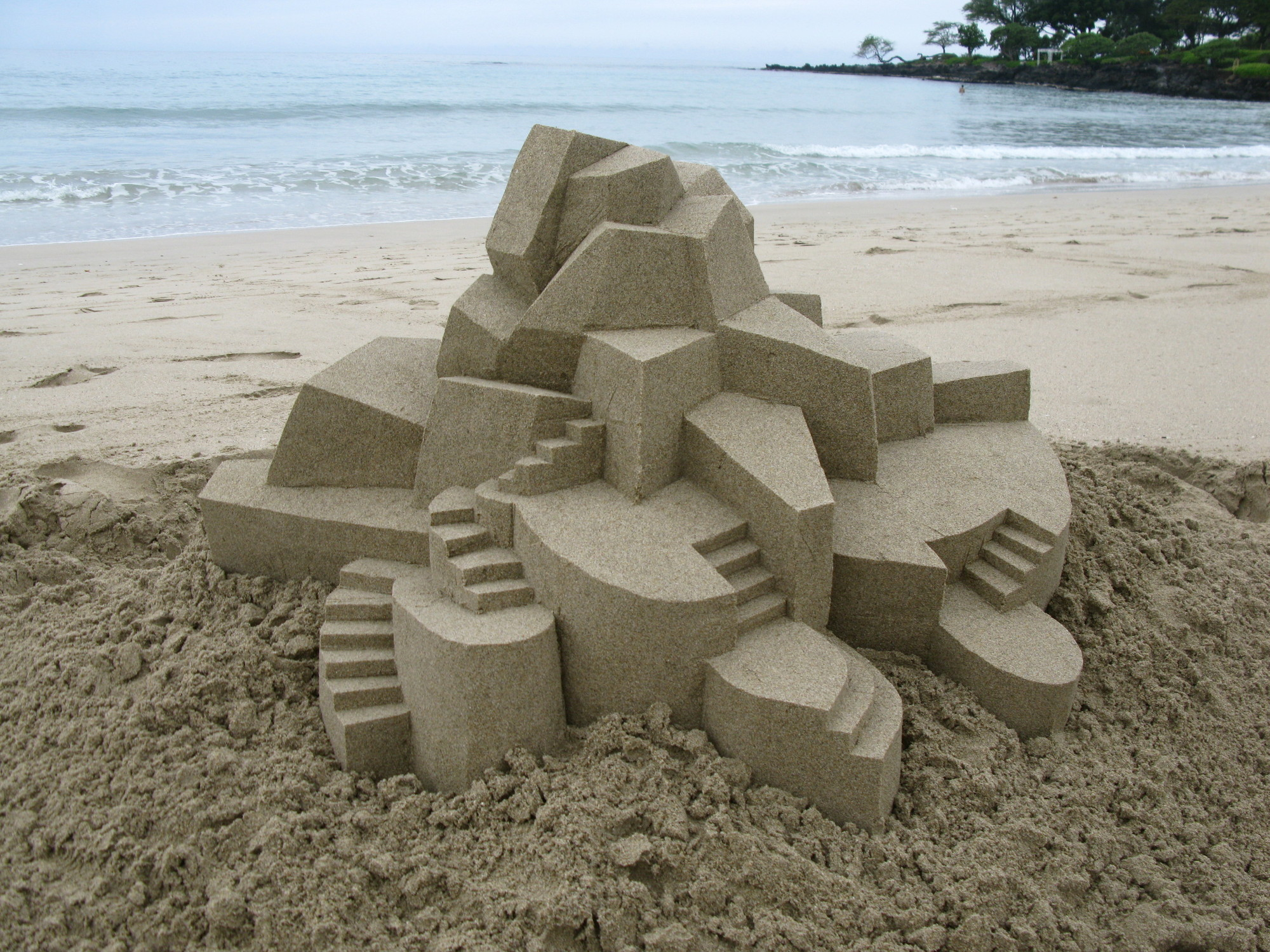 Best Image Calvin Seibert Sculpts Impressive Modernist Sandcastles