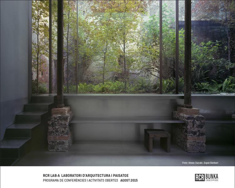 Conferencias y actividades RCR LAB-A Laboratorio D'Arquitectura I Paisatge / Girona