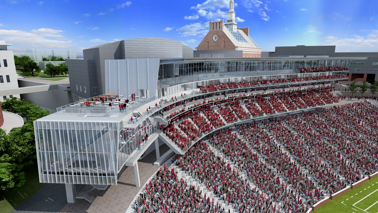 University Of Cincinati >> Gallery Of Aro And Heery Design Nippert Stadium Expansion For