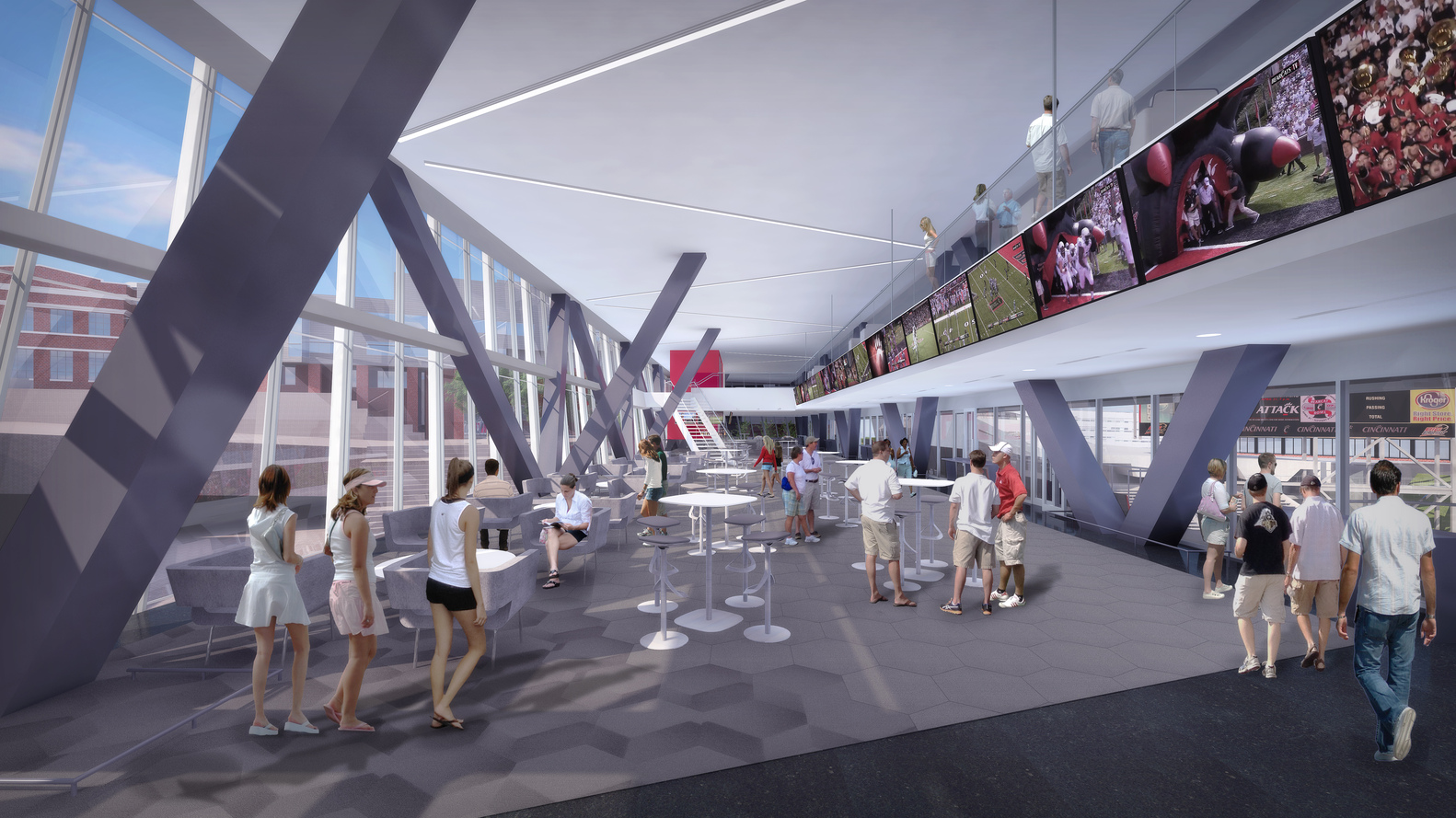 ARO And Heery Design Nippert Stadium Expansion For University Of Cincinnati,Courtesy  Of The University