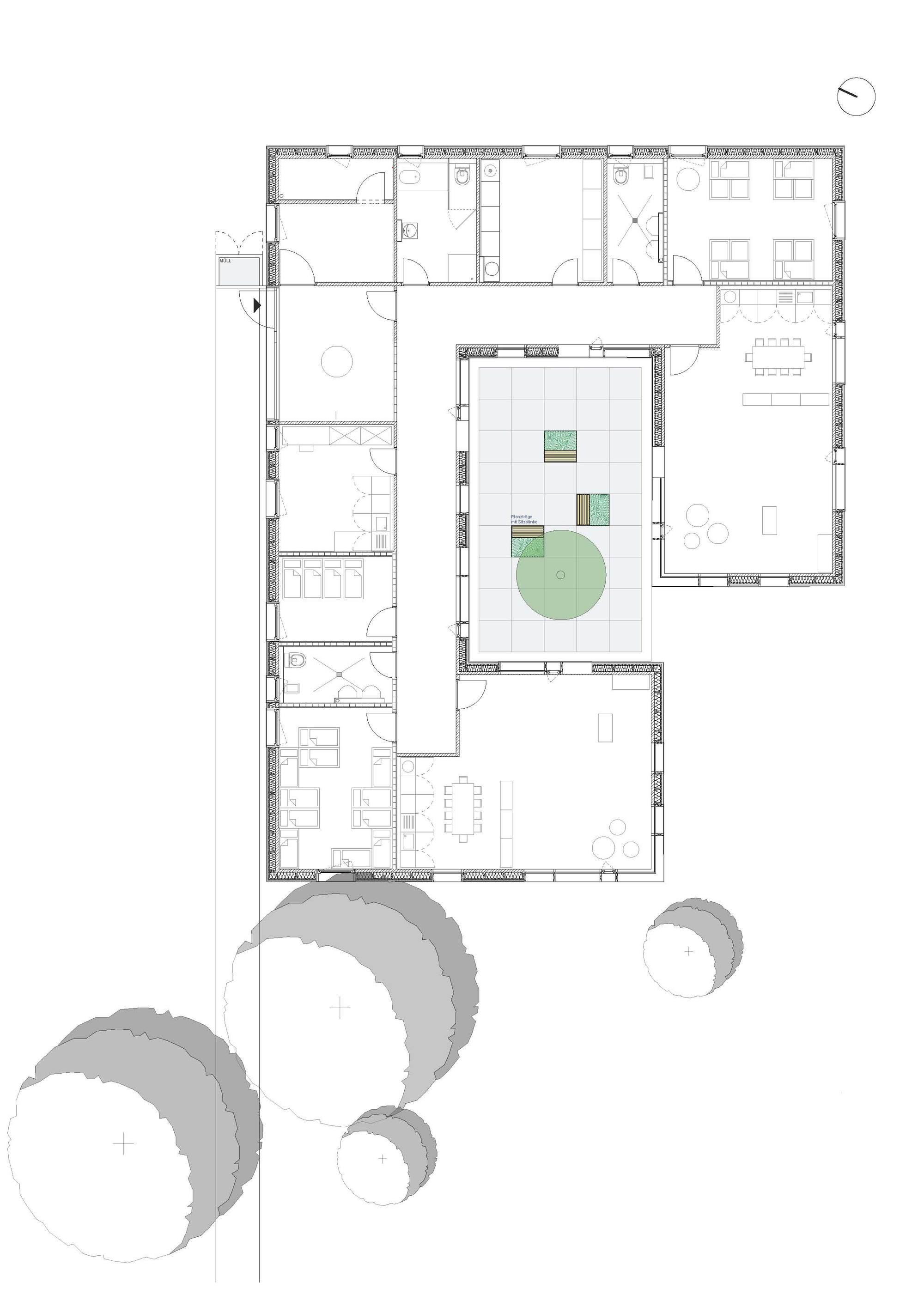 Gallery of kinderkrippe pollenfeld k hnlein architektur 15 - Architektur plan ...