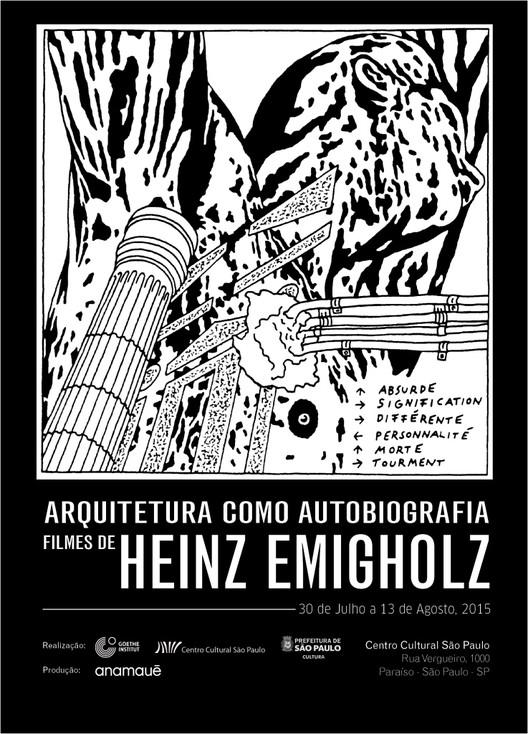 """CCSP promove a mostra de cinema """"Arquitetura como autobiografia: Filmes de Heinz Emigholz"""", Cortesia de CCSP"""