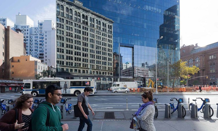 Saving Place: 50 Years of New York City Landmarks, Detail, Astor Place. Image © Iwan Baan