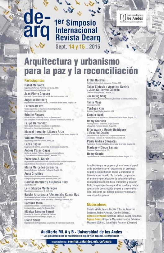 Simposio internacional DEARQ: Arquitectura y urbanismo para la paz y la reconciliación / Bogotá