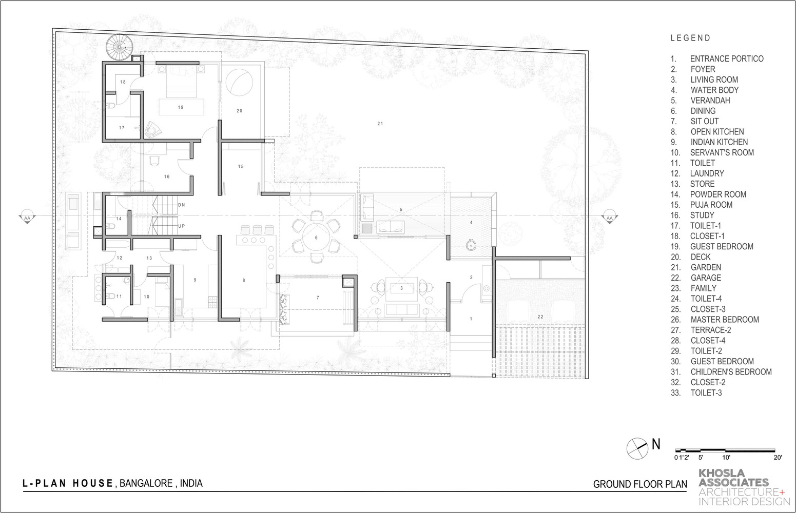 Gallery of L- Plan House / Khosla ociates - 18 on 1 bedroom house plans, l-shaped range home plans, 6 bedroom house floor plans, l-shaped building plans, california ranch house plans, l-shaped floor plans, simple small house floor plans, authentic old house plans, v house plans, small cabin plans, u-shaped house plans, ranch house floor plans, l-shaped roof plans, small ranch house plans, l-shaped horse barn plans, l-shaped cottage plans, deck plans, i house plans, h shaped home plans, small cottage floor plans,