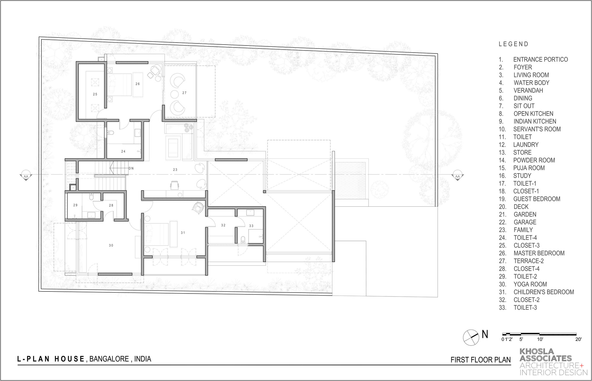 L Plan House Khosla Associates