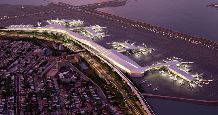 HOK e Parsons Brinckerhoff projetam a renovação do Aeroporto LaGuardia em Nova Iorque, © Governor Andrew Cuomo
