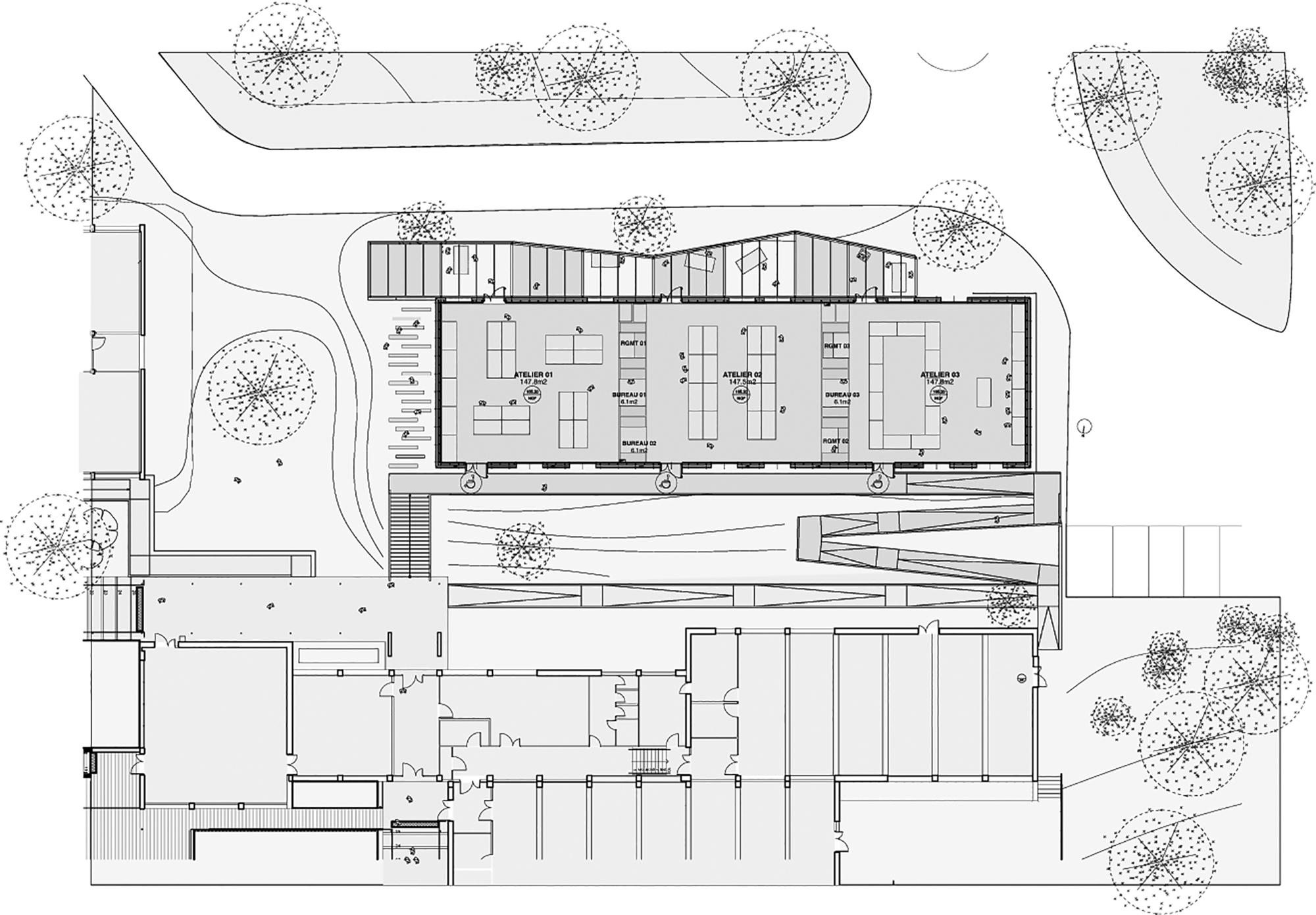 plan architecture floor extension pan marseille