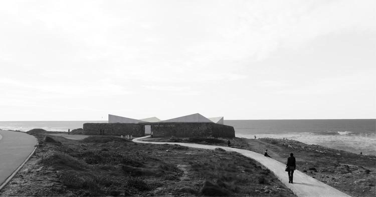 ARKxSITE anuncia os vencedores do concurso para o Centro de Artes em Portugal, Primeiro Lugar - render externo. Cortesia de ARKXSITE