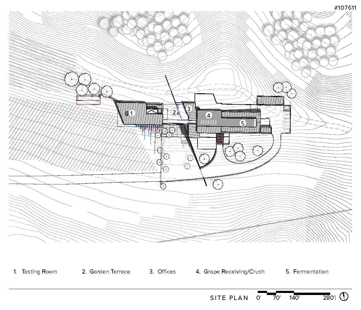 Gallery of law winery bar architects 29 for Winery floor plans by architects