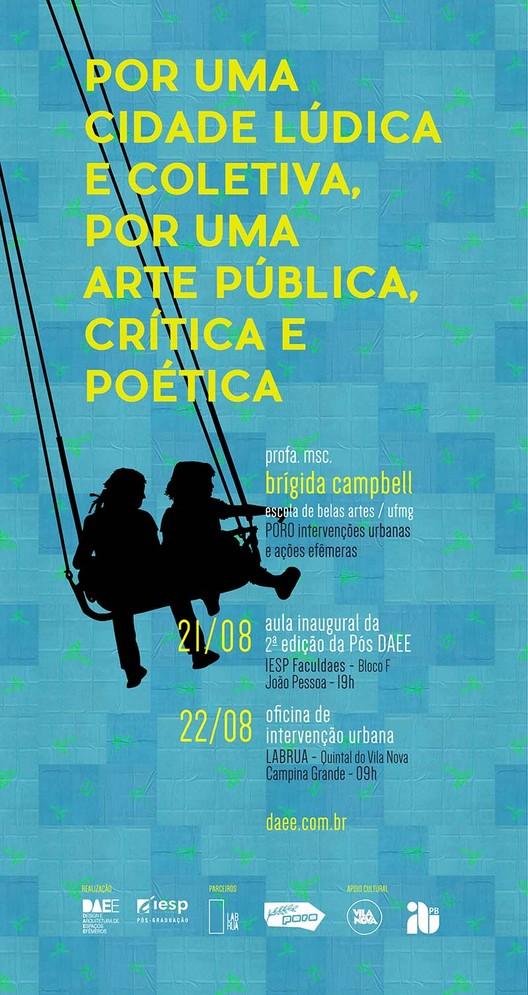 """IESP promove a palestra """"Por uma cidade lúdica e coletiva, por uma arte pública, crítica e poética"""", Cortesia de Pós DAEE"""