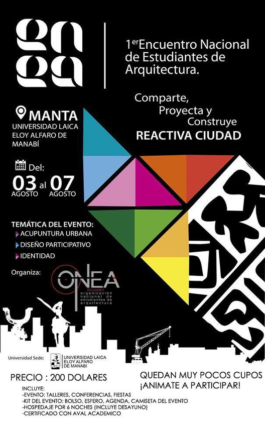 Encuentro Nacional de Estudiantes de Arquitectura (ENEA) / Manta, Ecuador