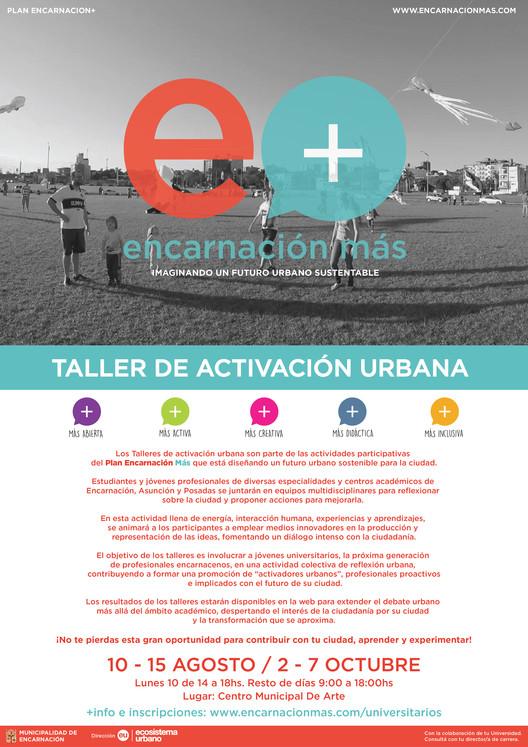 Convocatoria Abierta a Talleres con Ecosistema Urbano / Encarnación, Paraguay, ecosistema urbano