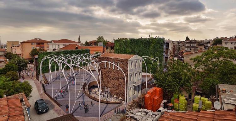 Anunciados os vencedores do concurso para o Mercado Comunitário de Istambul, Cortesia de Ctrl+Space