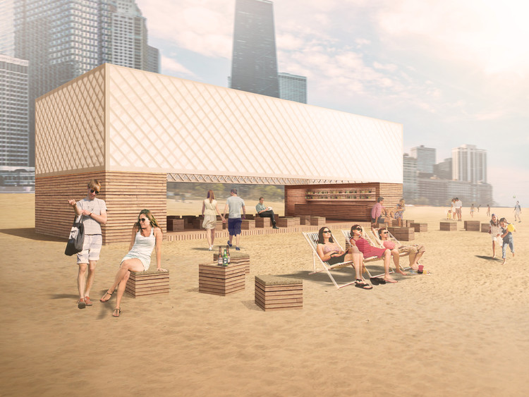 Chicago Architecture Biennial Announces Lakefront Kiosk Winners, Finalist: Lakefront Kiosk / TRU Architekten. Image Courtesy of The Chicago Architecture Biennial