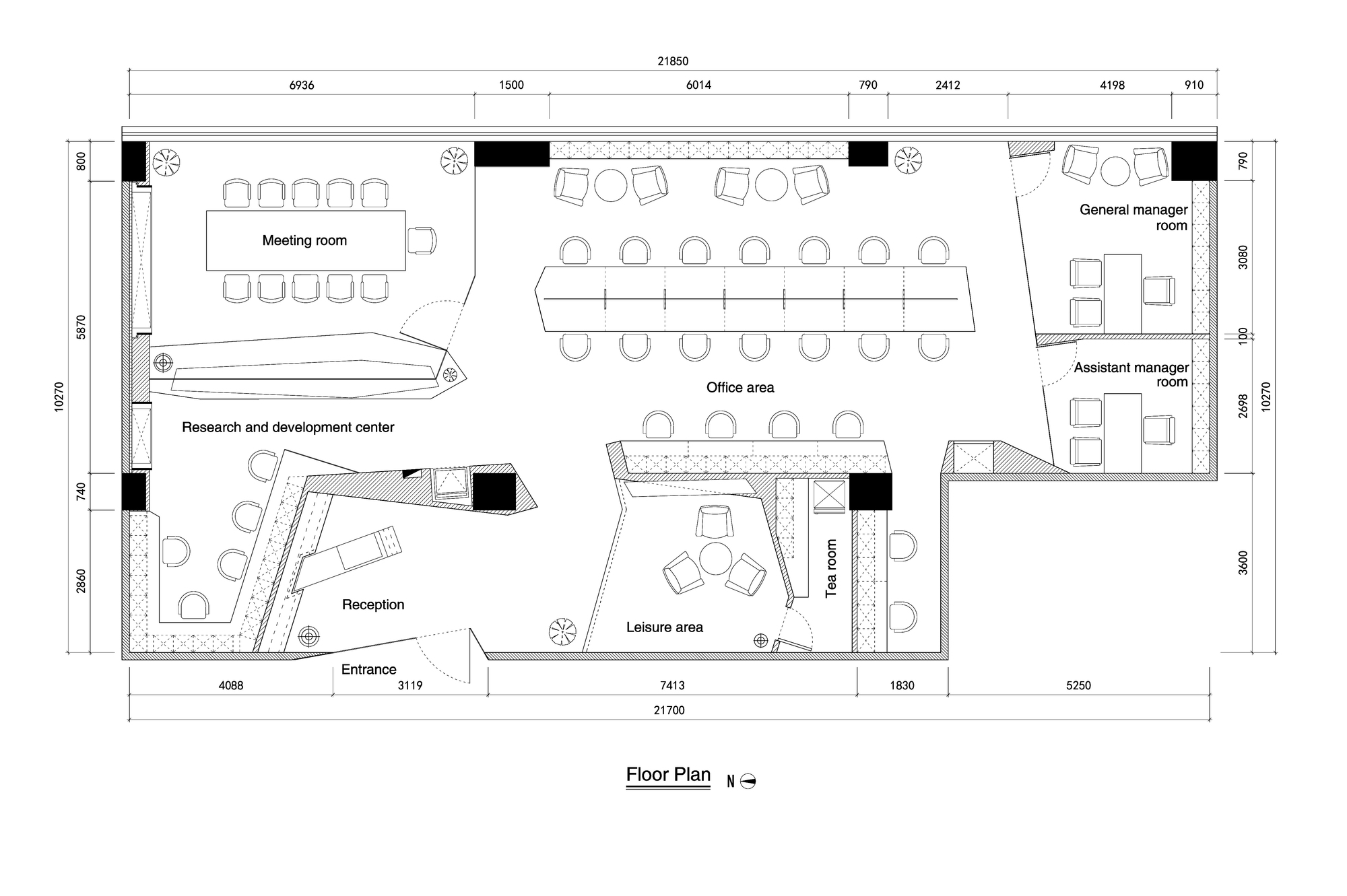 Gallery of paper folding space elle office feeling for Office layout plan design