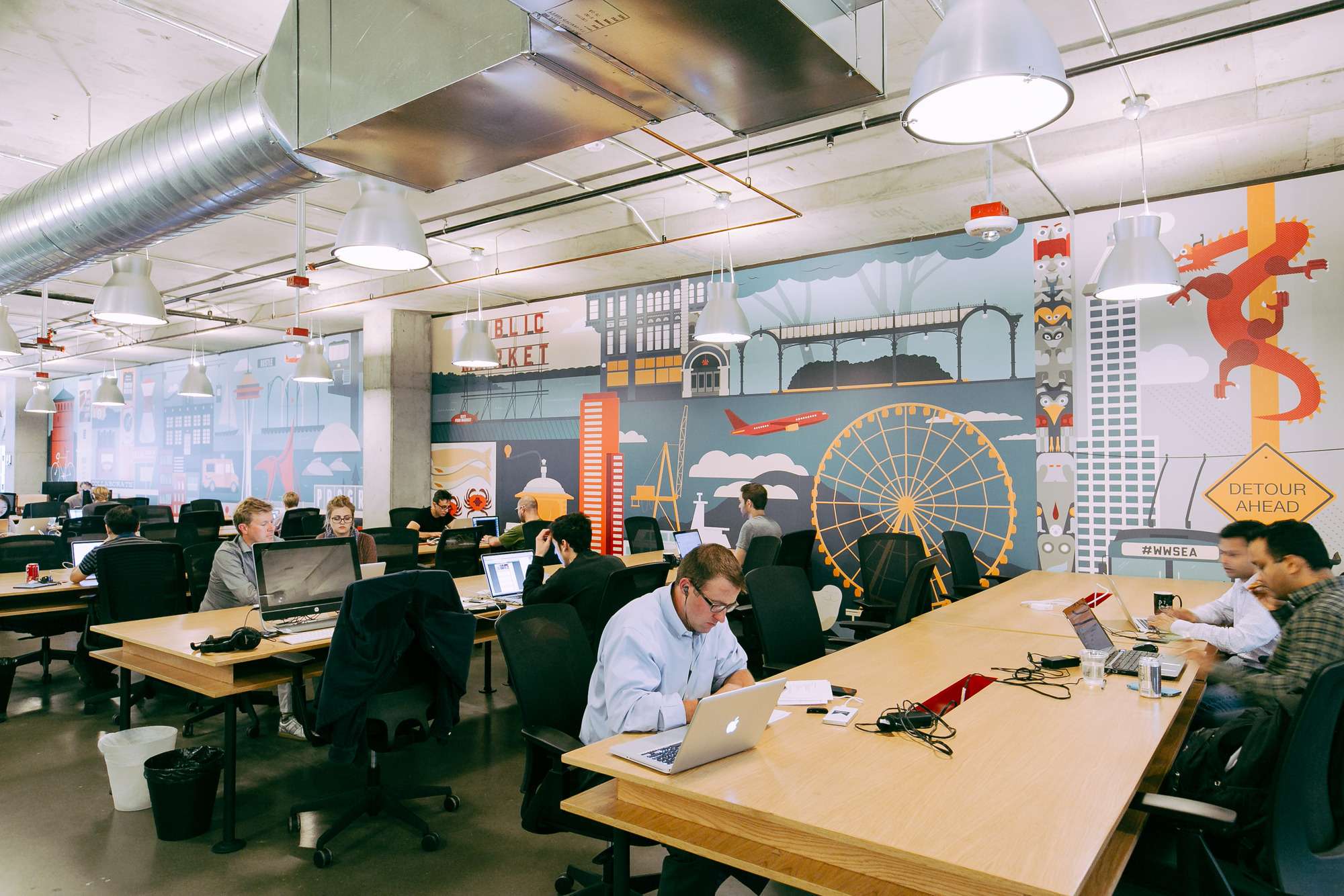 Gallery of as wework acquires case the future of office Coworking space design ideas