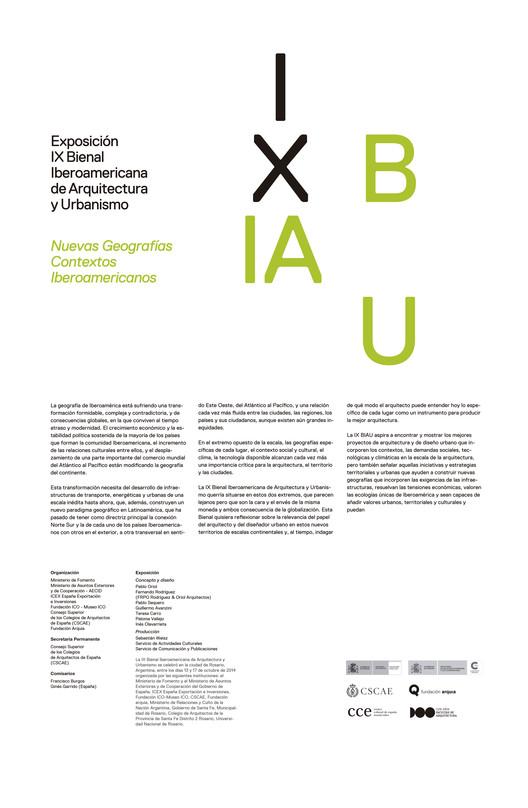 Exposición IX BIAU / Montevideo, Cartel Itinerancia IX BIAU