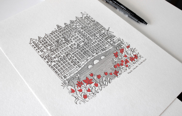 Architecture is the Protagonist in These Intricate Illustrations, © Marta Vilarinho de Freitas