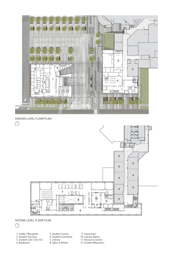 Morningside College Campus Map.Gallery Of Centennial College Ashtonbee Campus Library Student Hub