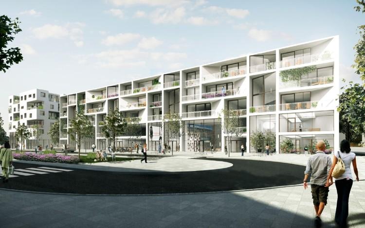 URBAN AGENCY y BEM Architects diseñan proyecto residencial en Alemania, Vista exterior. Imagen cortesía de URBAN AGENCY