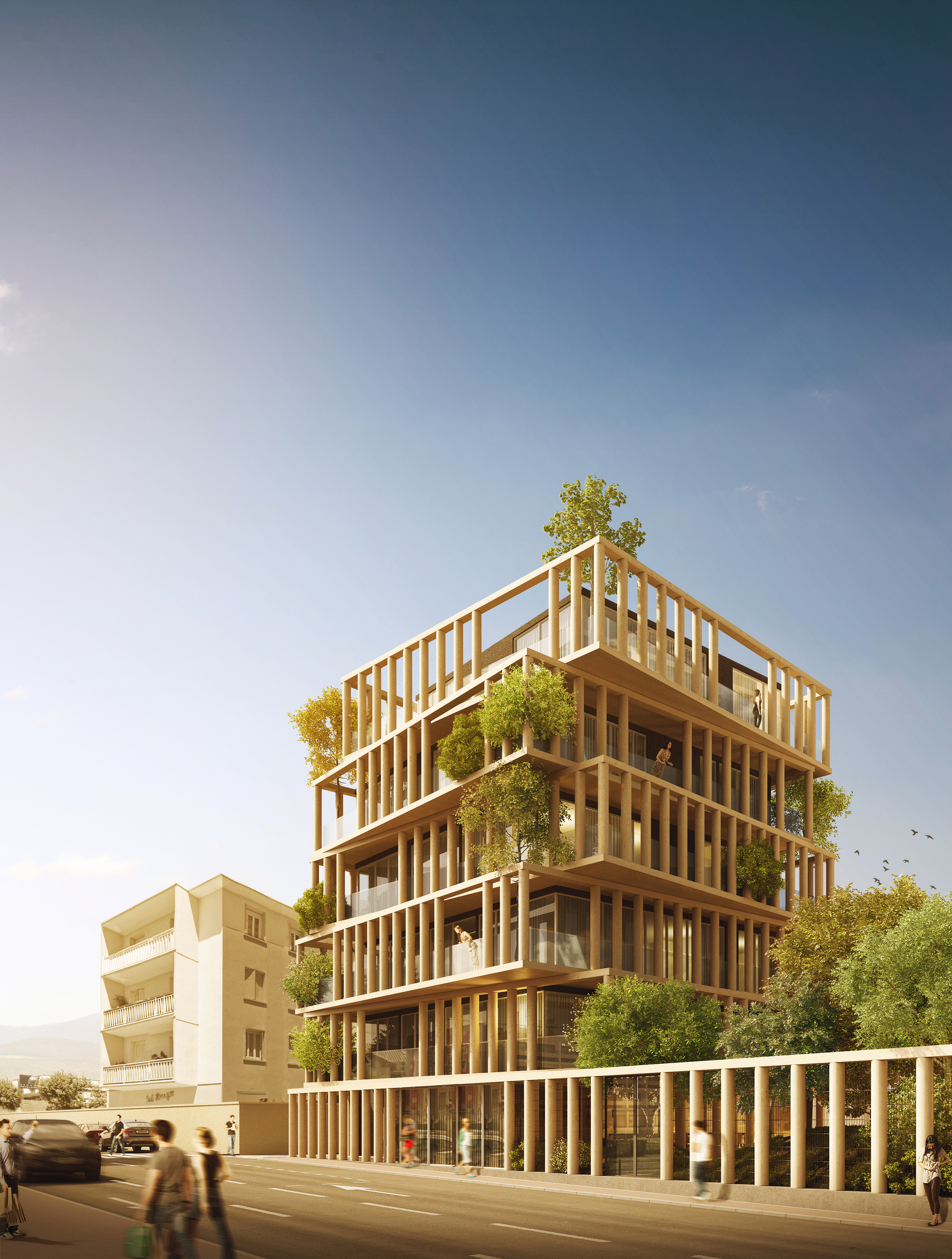 urban agencys luxury apartment design twists french planning law archdaily