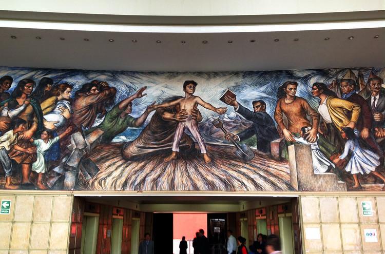 """Mural """"La Educación en el Perú"""" de Teodoro Núñez Ureta. Image © Luis Quispe Medina"""