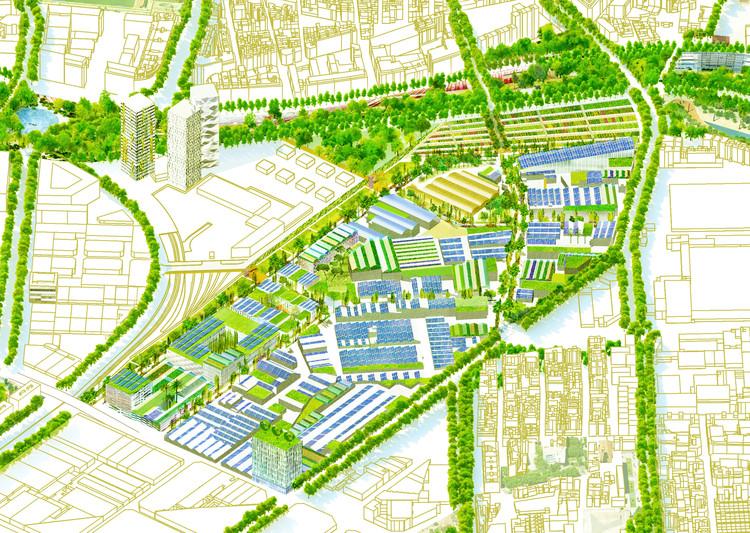 La nueva fábrica urbana: el eco-parque industrial de Torrent Estadella, Barcelona, Cortesía de Eduard Balcells