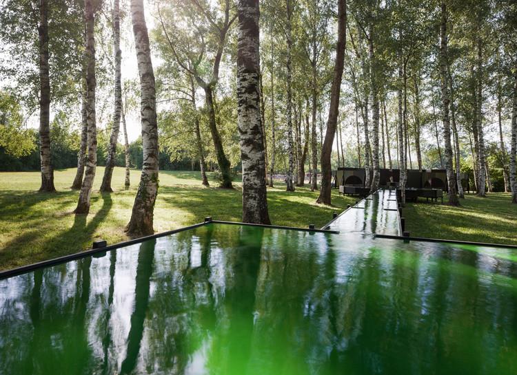 """""""Fuente de Spirulina"""" inspirada en los parques del Siglo XVI / Bureau A, © Dylan Perrenoud"""