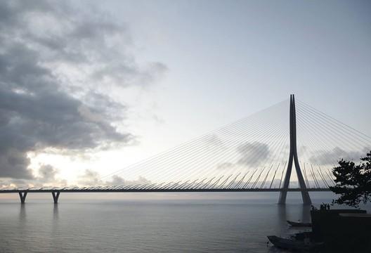 © Danjiang Bridge by Zaha Hadid Architects, render by MIR
