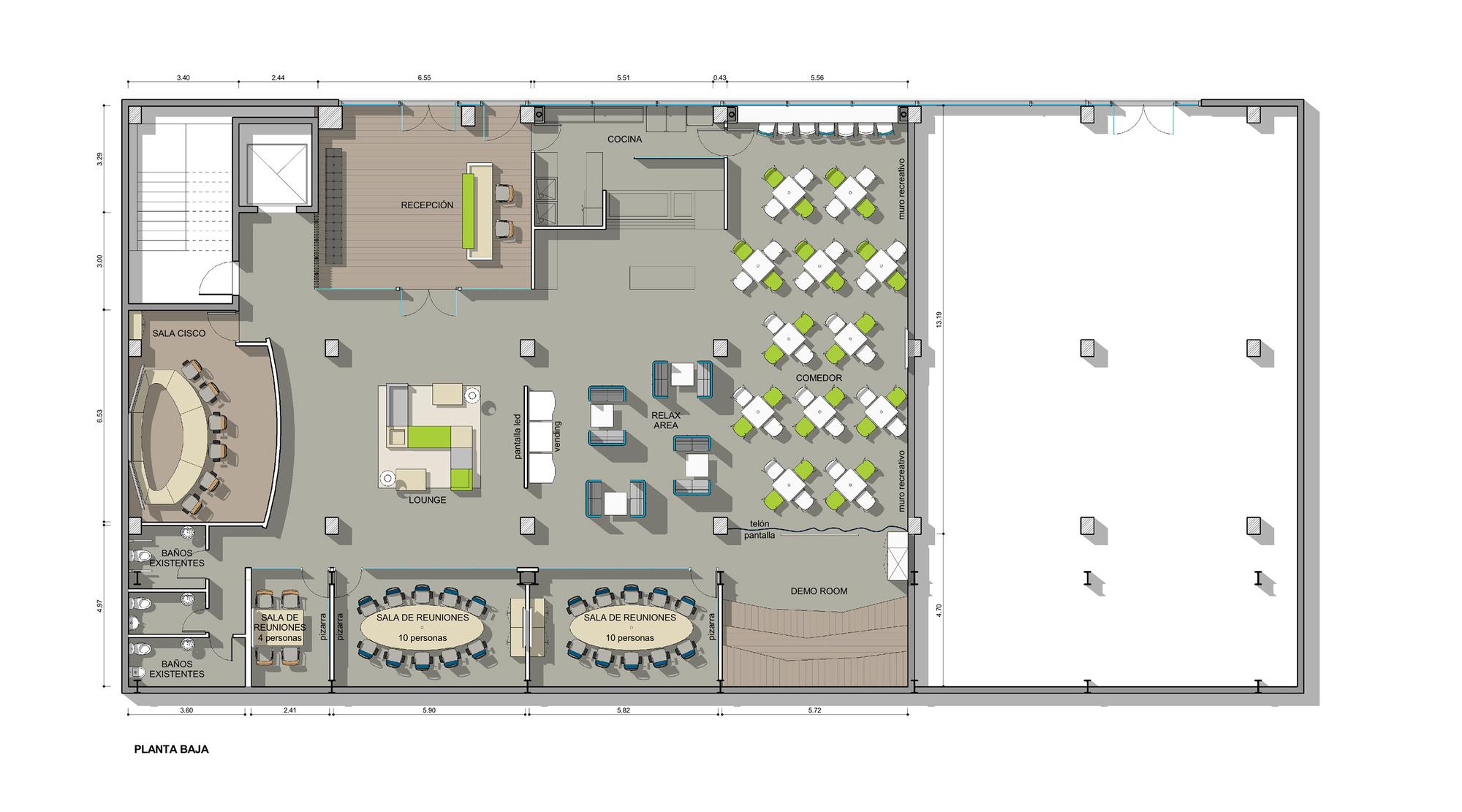 Galer a de oficinas telef nica contract workplaces 16 for Distribucion de oficinas en una empresa