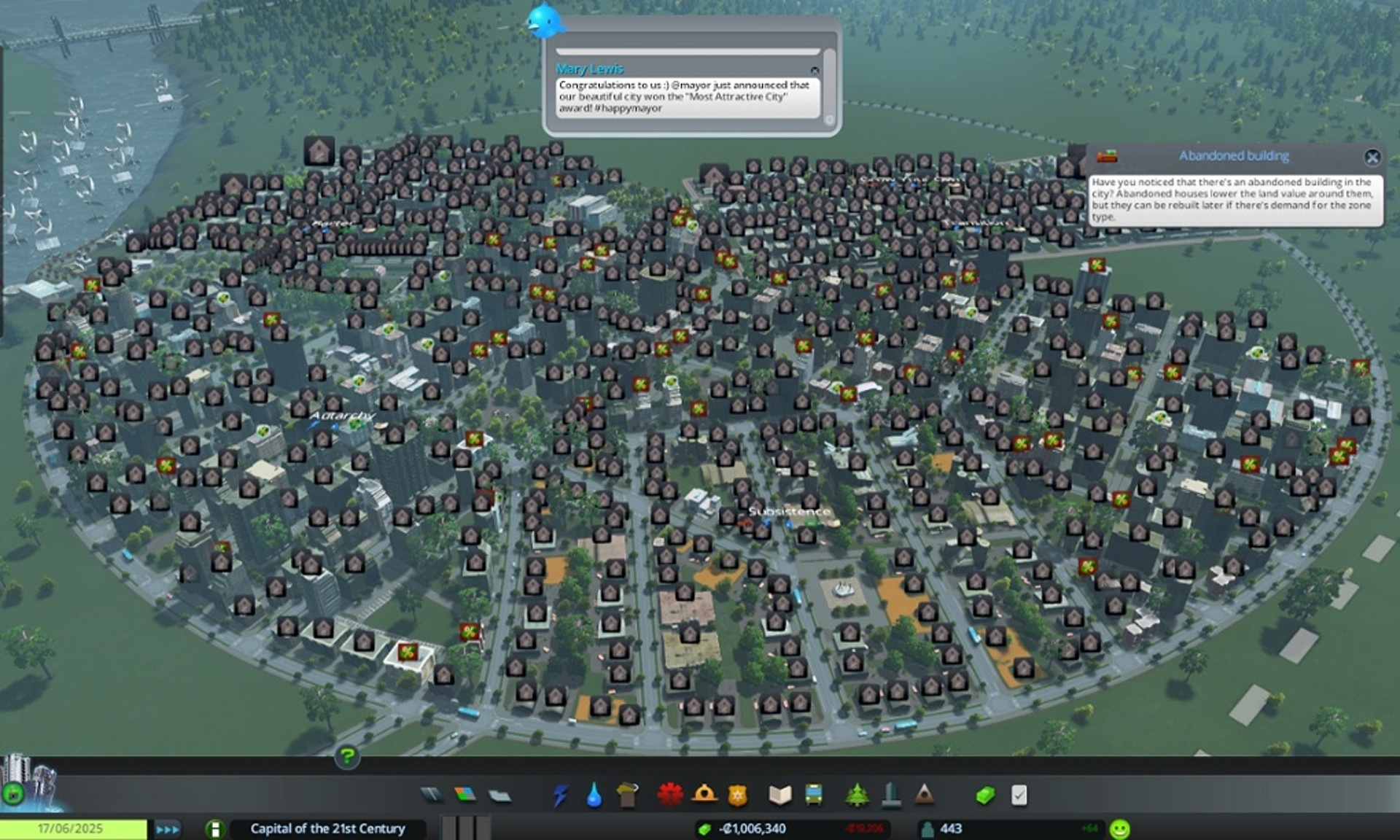 Challenging the Rules of a City Simulator in Which There is
