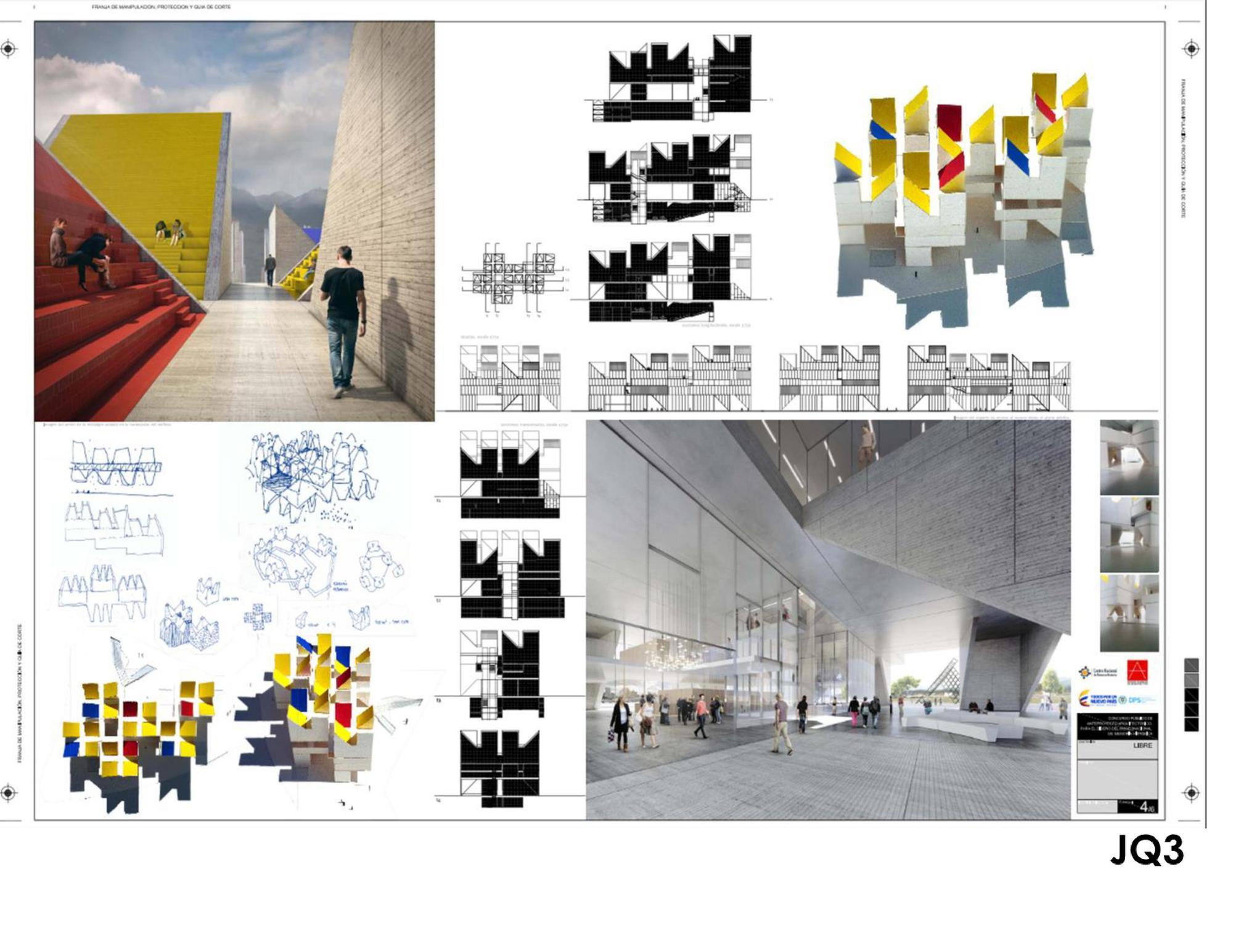 Galeria de mgp vencem concurso para o for Estudios de arquitectura bogota