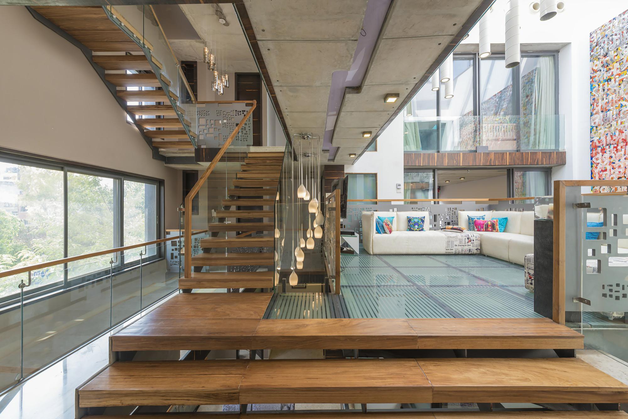 House b123 m ofa studios archdaily - Escaleras para jardin ...