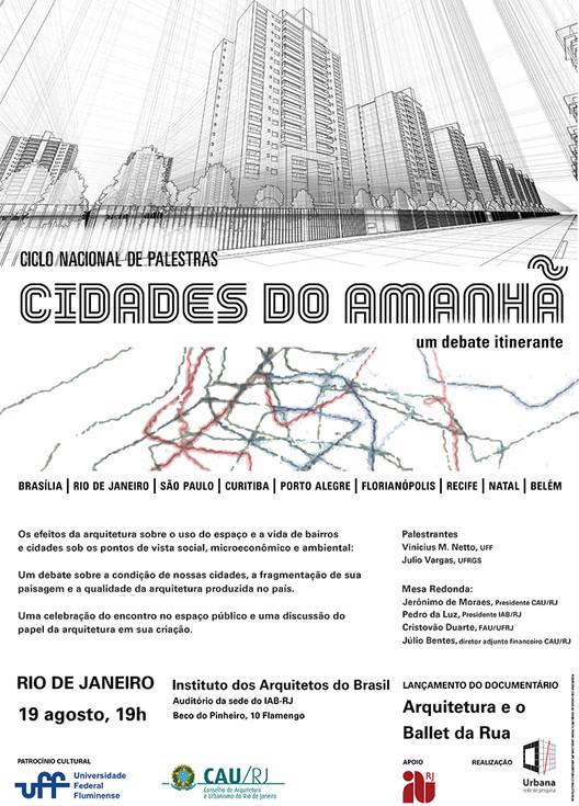 """Ciclo de Palestras """"Cidades do Amanhã"""", no IAB-RJ"""