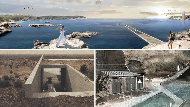 Anuncian los proyecto ganadores de MESC: Mediterranean Sea Club Ibiza, Propuestas premiadas. Image Cortesía de Arquideas