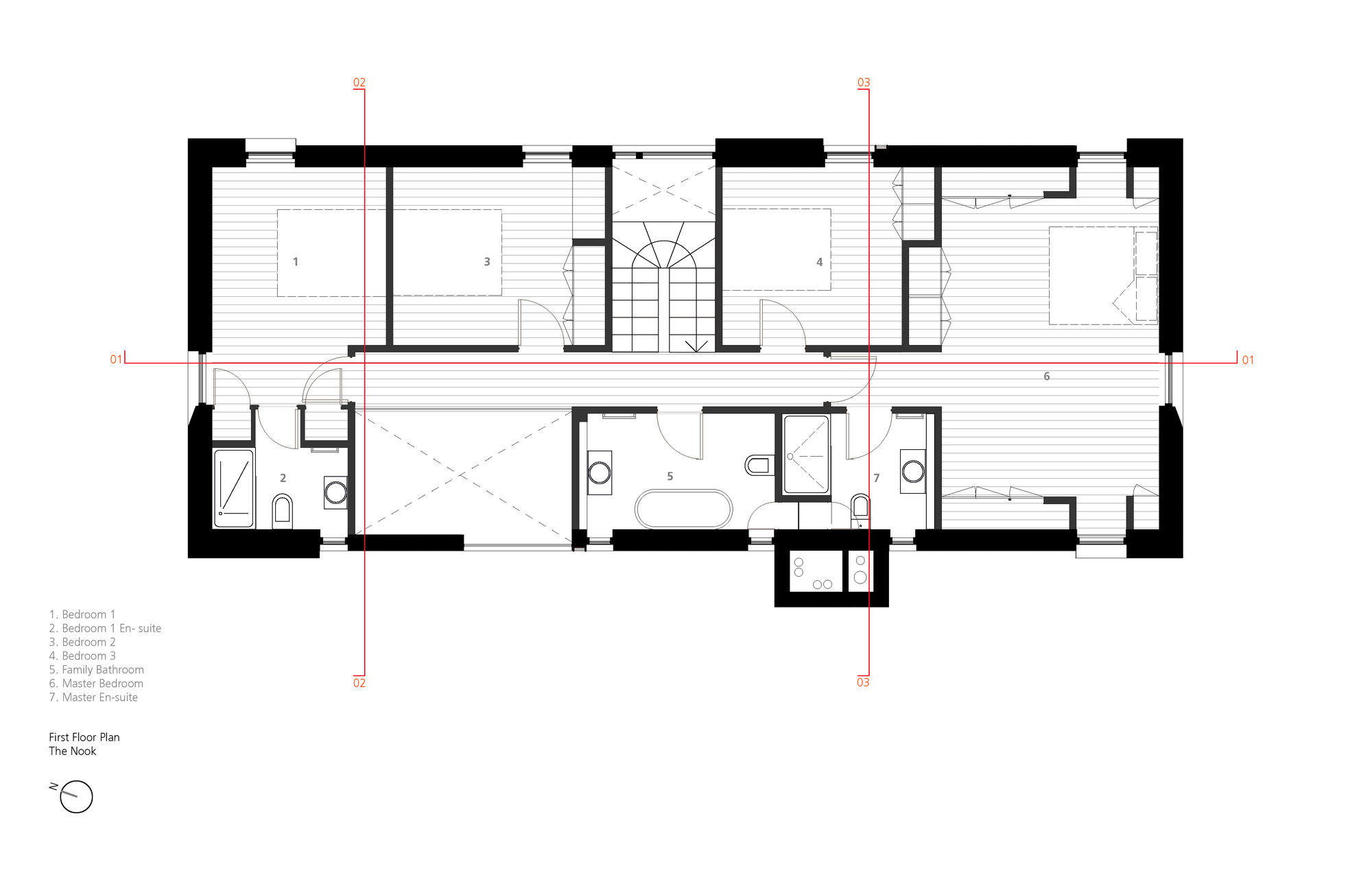 Gallery of the nook hall bednarczyk 15 for L architecture moderne plan