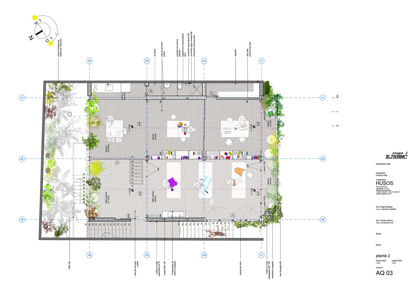 Superb Bioclimatic Prototype Of A Host And Nectar Garden Building,Second Floor Plan