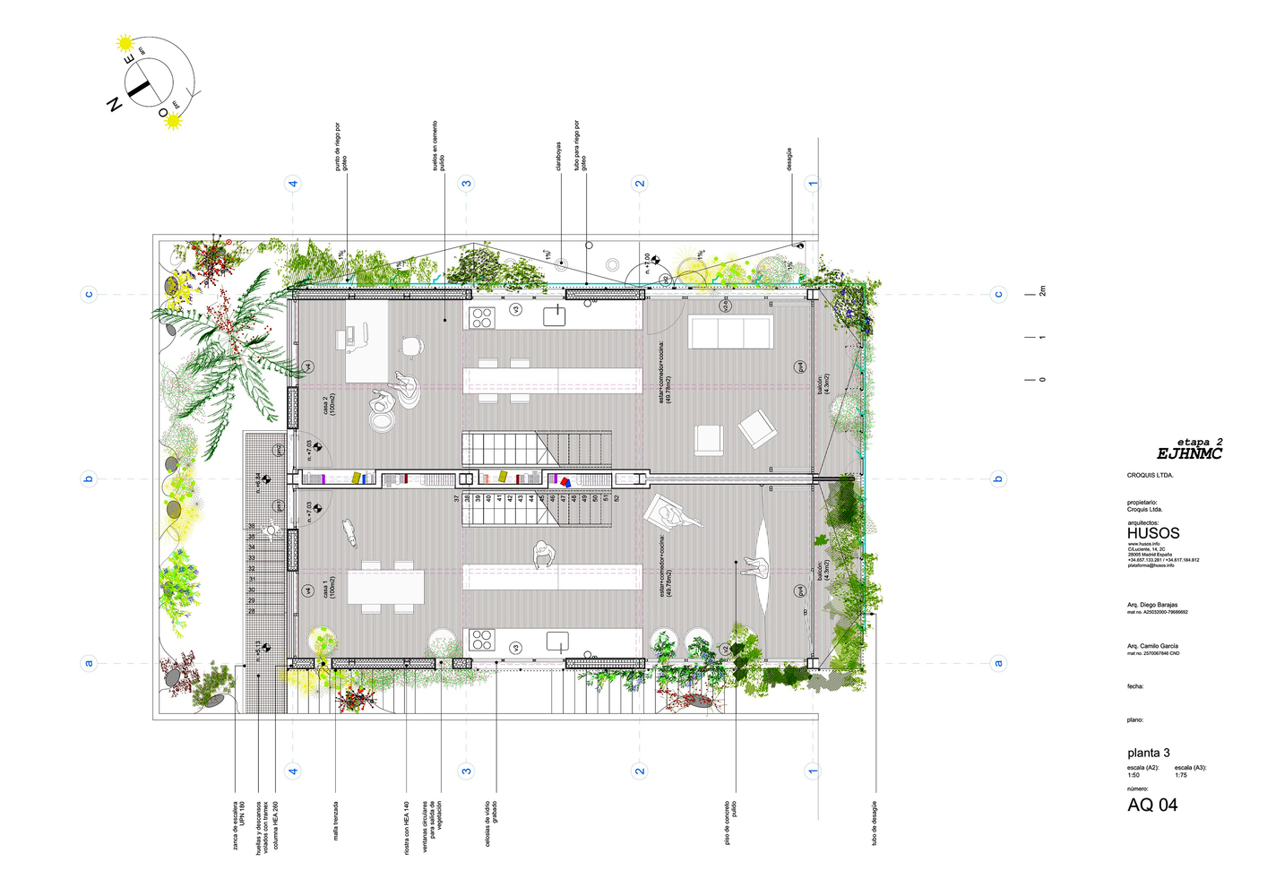 Bioclimatic Prototype Of A Host And Nectar Garden Building,Third Floor Plan