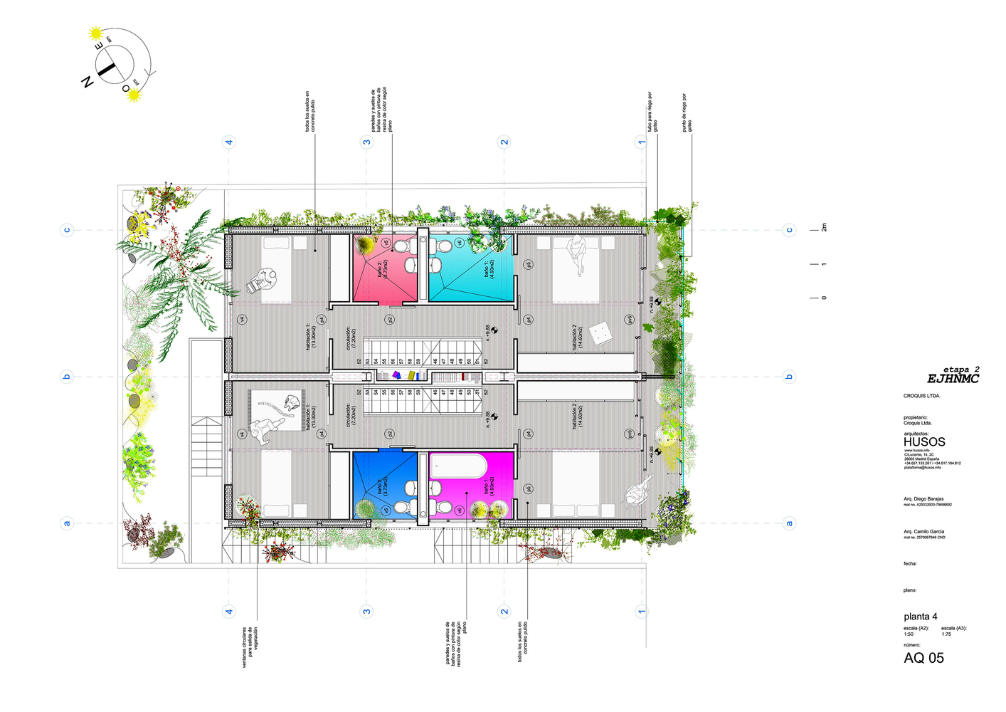Great Bioclimatic Prototype Of A Host And Nectar Garden Building,Fourth Floor Plan