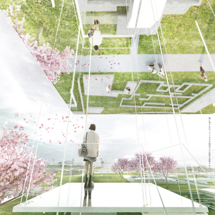 [ME]morial Thesis Honors 2011 Japan Earthquake Victims, [ME]morial #1: Air. Image Courtesy of Beomki Lee