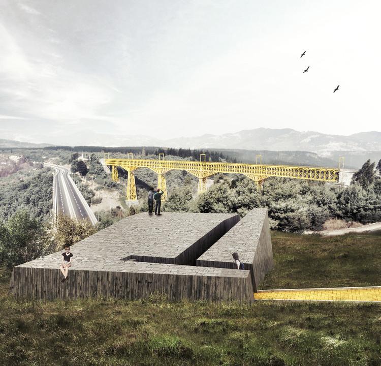 Estaciones del Malleco, segundo lugar profesional en concurso Electrolux 2015, Estación umbral. Image Cortesía de Equipo Segundo Lugar