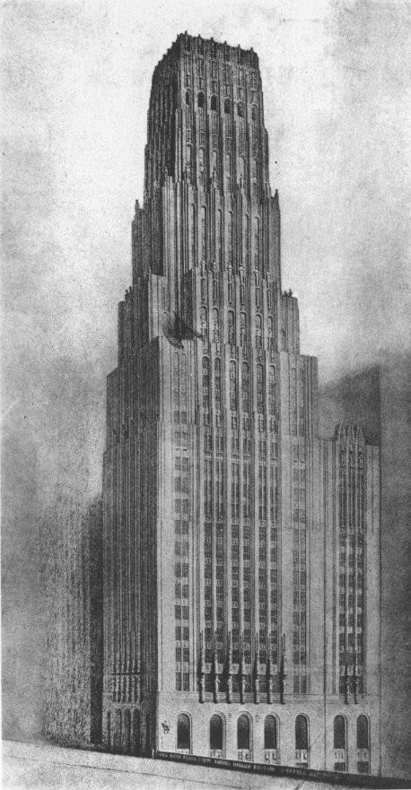 The unbuilt plan for the Tribune Tower. Image via Wikimedia (public domain)